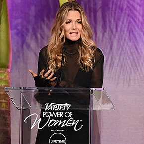 Michelle Pfeiffer recognized for her work with EWG at Variety's Power of Women | October 14, 2017