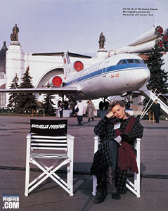 Michelle Pfeiffer on the set of The Russia House