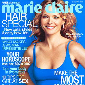 Michelle Pfeiffer's new take on life | January 2002