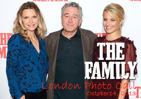 "Michelle Pfeiffer with Robert De Niro at ""The Family"" London Photo Call"