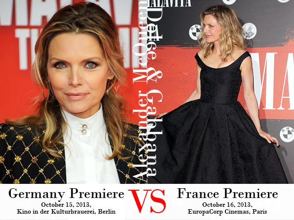 Michelle Pfeiffer in Alexander McQueen and Dolce & Gabbana