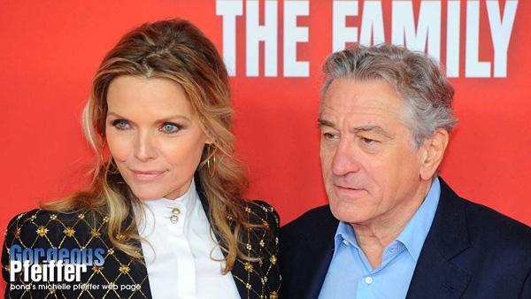 Michelle Pfeiffer with Robert De Niro