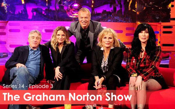 "Michelle Pfeiffer, Robert De Niro and Cher on ""The Graham Norton Show"""