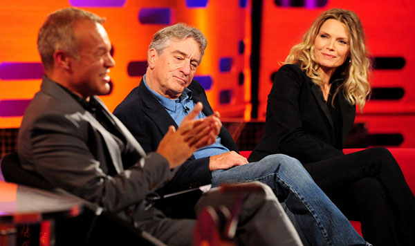 "Michelle Pfeiffer and Robert De Niro on ""The Graham Norton Show"""