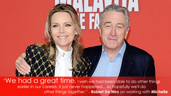 Michelle Pfeiffer with Robert De Niro