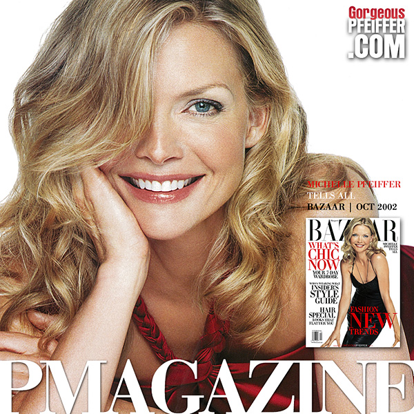Michelle Pfeiffer in Harper's Bazaar | October 2002