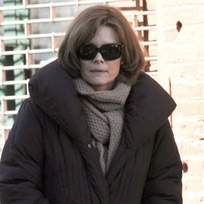 "Michelle continues filming ""New Year's Eve"" in New York City"