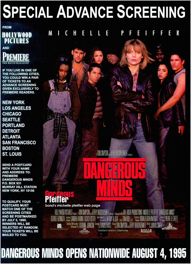 film dangerous minds essay Dangerous minds this essay dangerous minds and other 64,000+ term papers, college essay examples and free essays are available now on reviewessayscom autor: review • november 24, 2010 • essay • 498 words (2 pages) • 928 views.