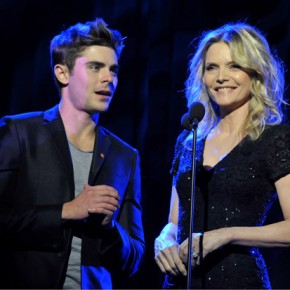 Zac can't stop flirting with Michelle Pfeiffer! | Dec 5, 2011